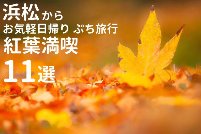 浜松から日帰りで行ける紅葉&観光スポット11選 -2016年版-