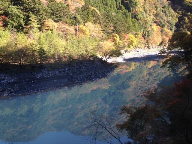 奥大井接岨峡温泉の紅葉