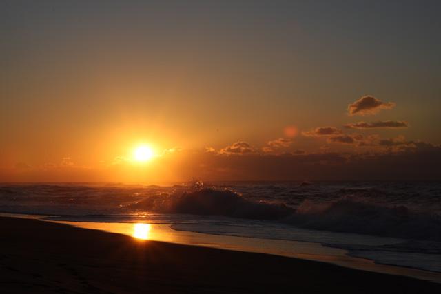 遠州灘・中田島砂丘からの初日の出
