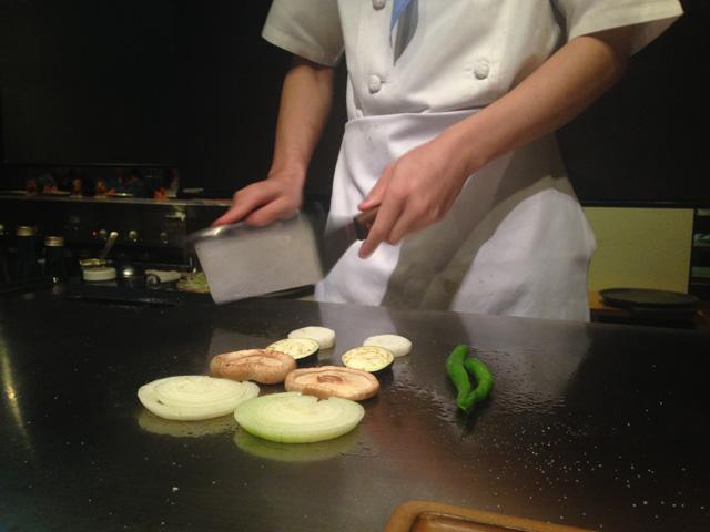 浜松グランドホテル いなんばの鉄板焼き