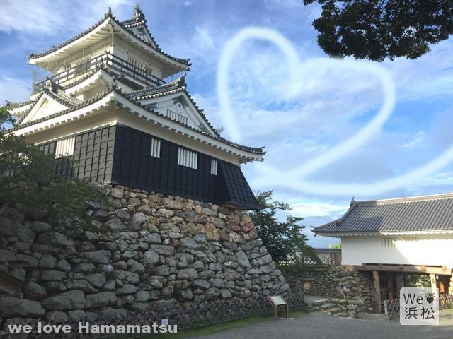 浜松城とハート