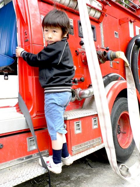 消防車搭乗体験