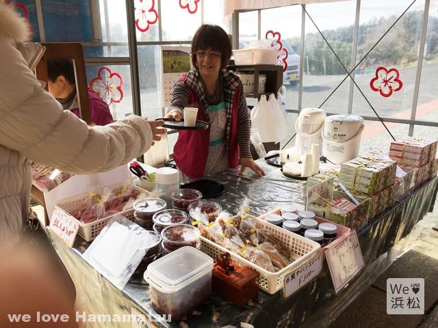 梅昆布茶のサービス