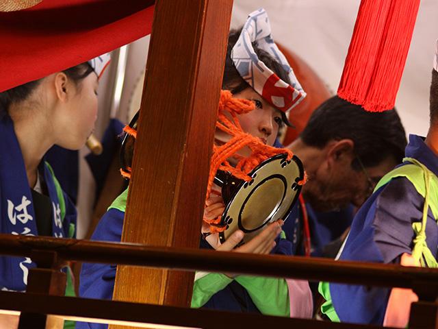 浜松まつり:御殿屋台 お囃子奏者