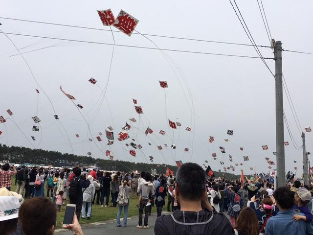 浜松まつり:凧揚げ