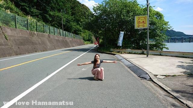 天竜区のラーメン屋とん吉の駐車場