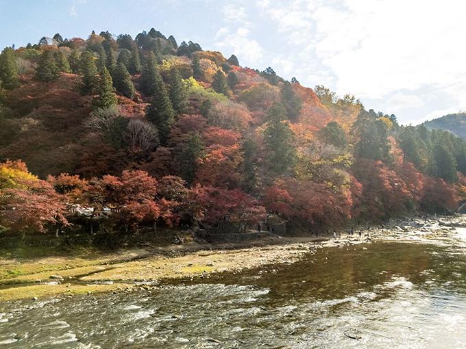 香嵐渓メインスポットの紅葉