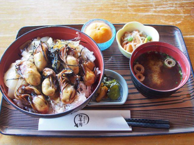 牡蠣カバ丼:うなぎ湖畔食房 舘山寺園