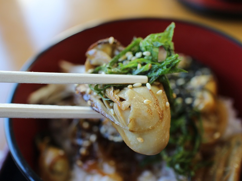 牡蠣カバ丼:お料理民宿・御食事処 松一