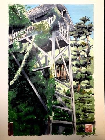 清瀧寺にある二俣城に造られた水の手櫓