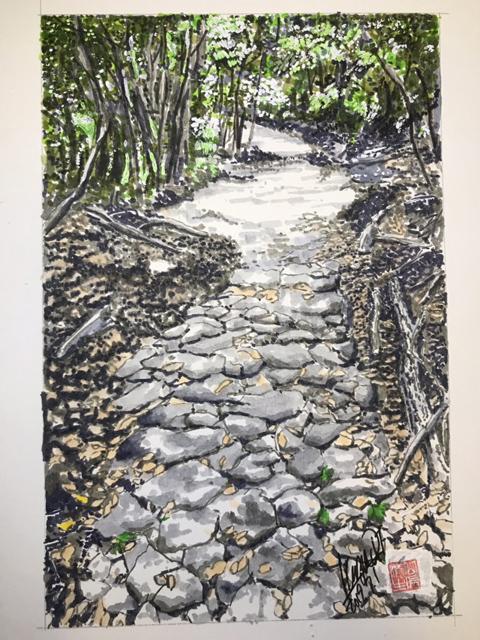 姫街道石畳