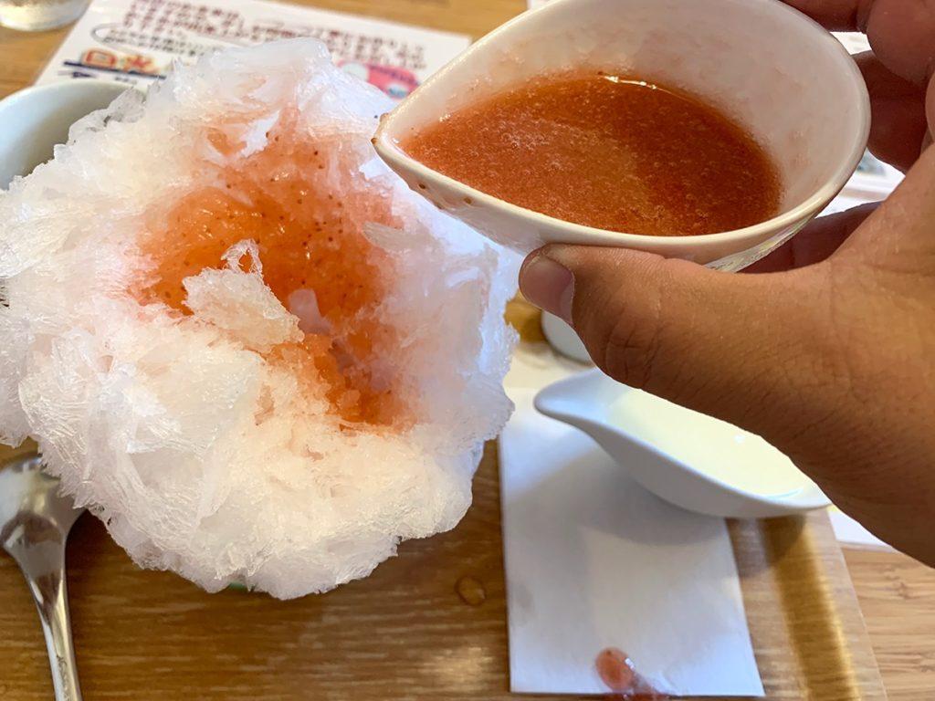 フクカフェの天然氷かき氷