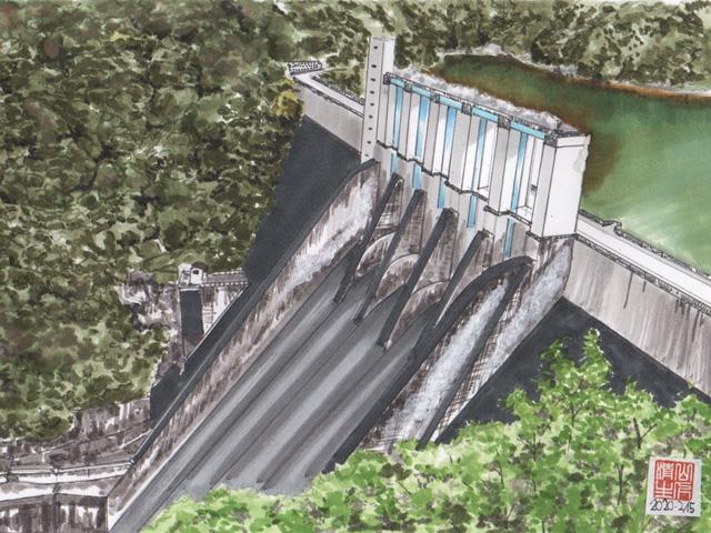 JR飯田線沿線 佐久間ダム