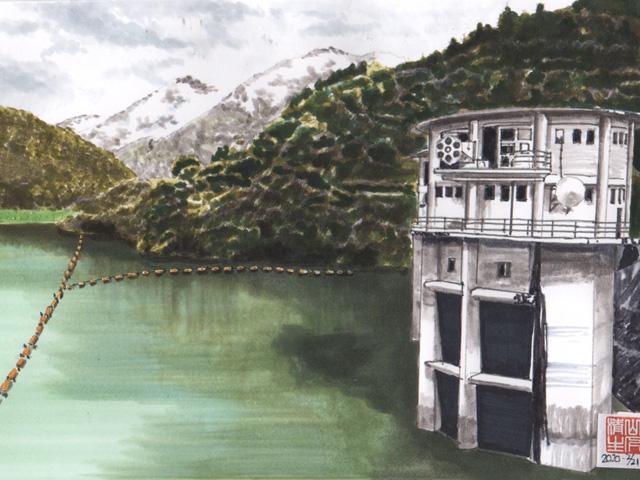 JR飯田線沿線 佐久間ダム湖