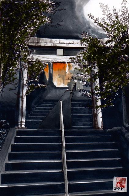 飯田線沿いの地元の残したい風景:八坂神社への階段