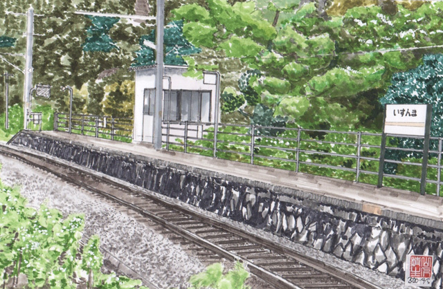 地元に残したい風景:飯田線:出馬駅(いずんまえき)