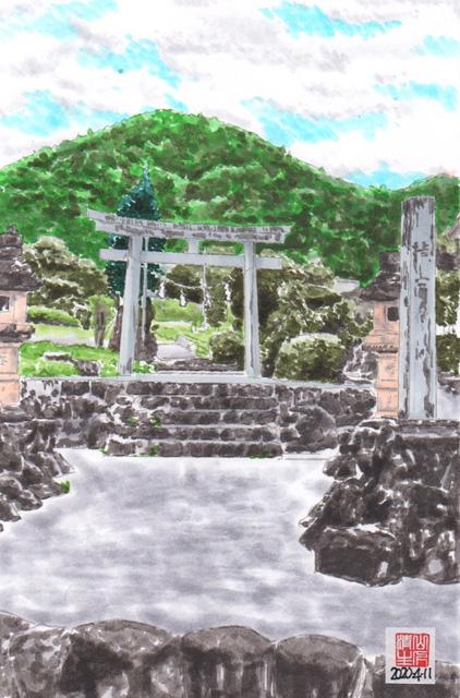 地元に残したい風景:飯田線:熊野神社鳥居