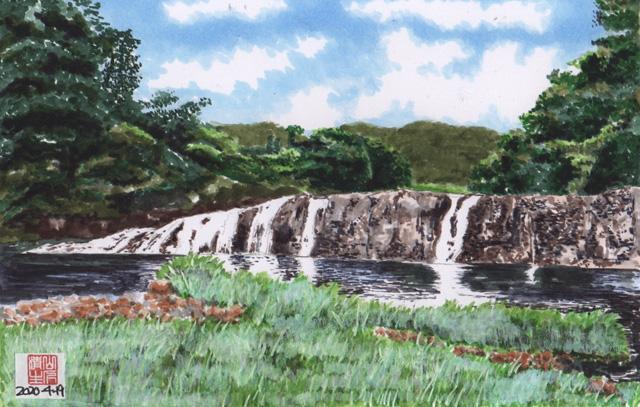 地元に残したい風景:飯田線:蔦の淵(つたのふち)の滝