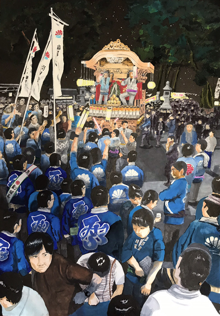 残したい民俗芸能景色:宮口のお祭り