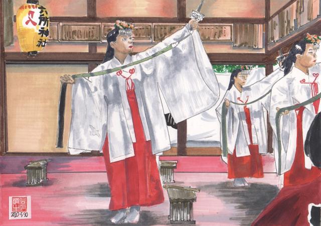 残したい民俗芸能景色:浦安の舞