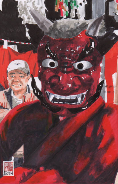 静岡県浜松市のまつり 秋冬編:川合花の舞その1 山見鬼