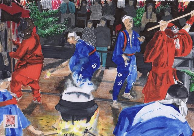 静岡県浜松市のまつり 秋冬編:川合花の舞その2 榊鬼