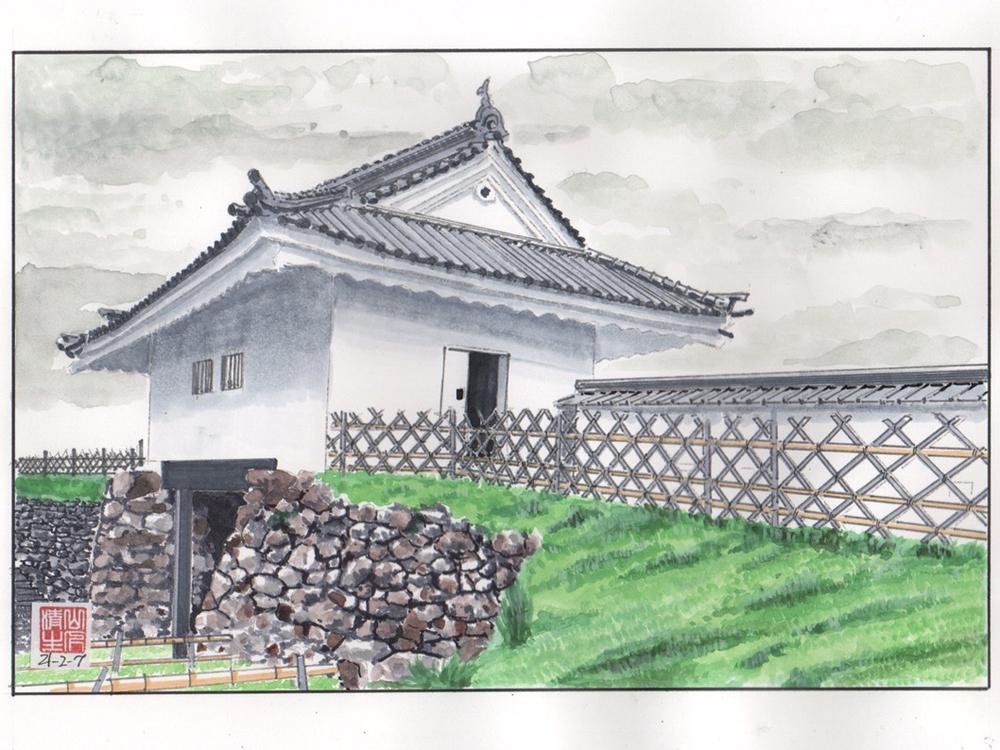 徳川家康を巡る情景3:浜松城天守門