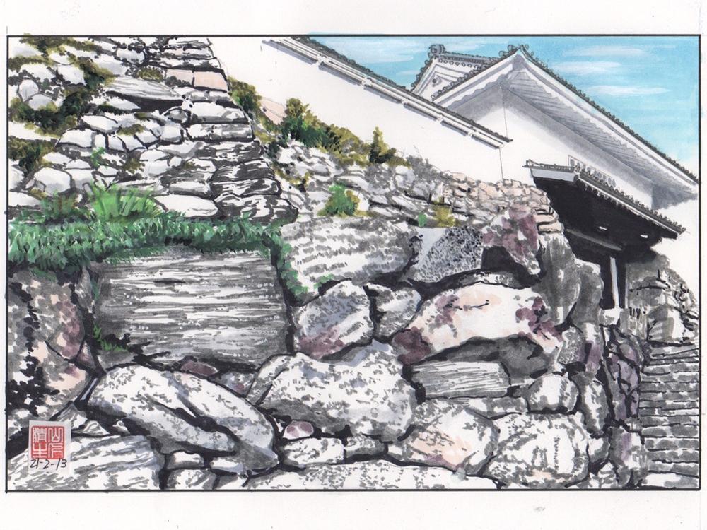 徳川家康を巡る情景3:浜松城石垣