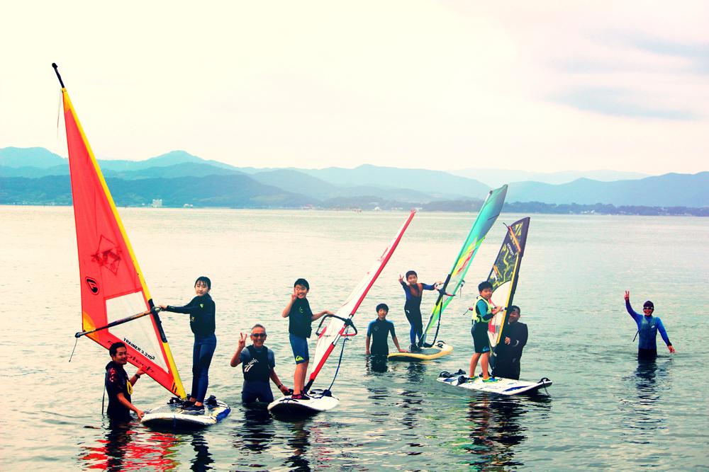 浜名湖村櫛海岸:ウインドサーフィン体験
