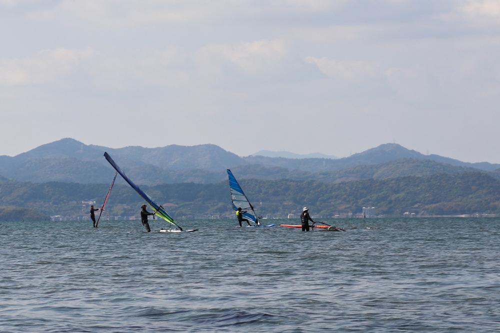 浜名湖 村櫛海岸 ウィンドサーフィン講習