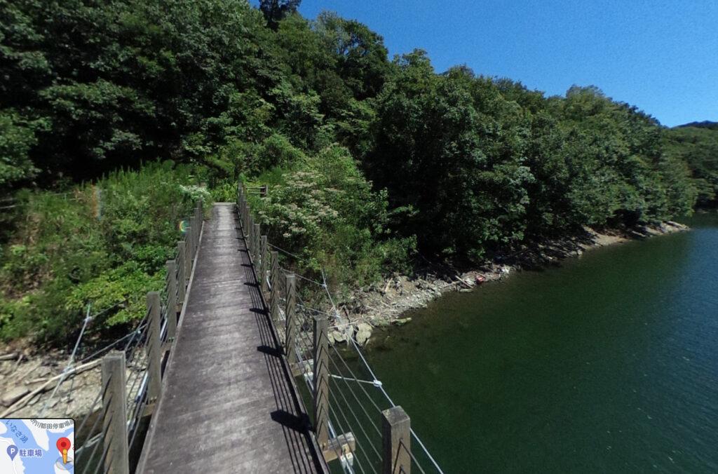 都田川ダム湖:おしどり橋