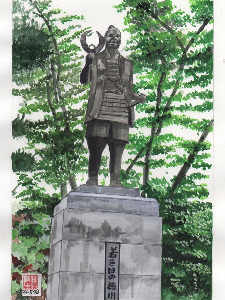 徳川家康を巡る情景:浜松城にある家康像
