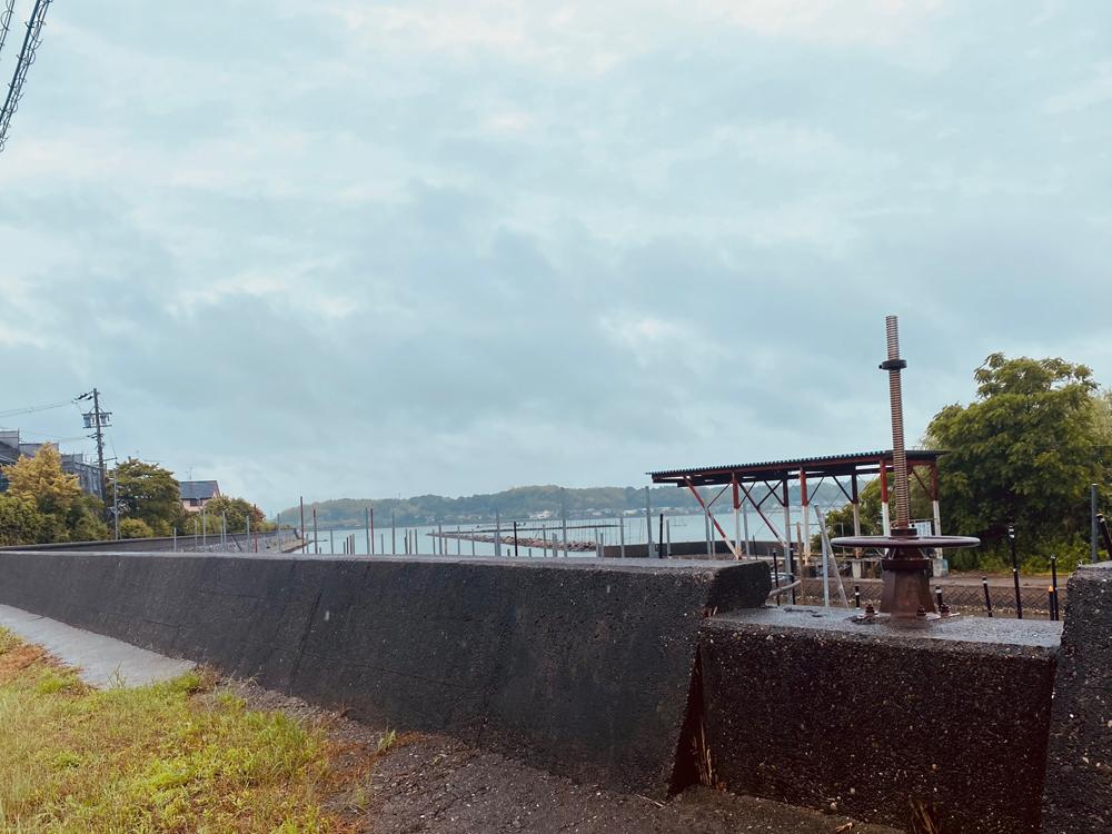 イタリアン「Shushu」店内から見える浜名湖