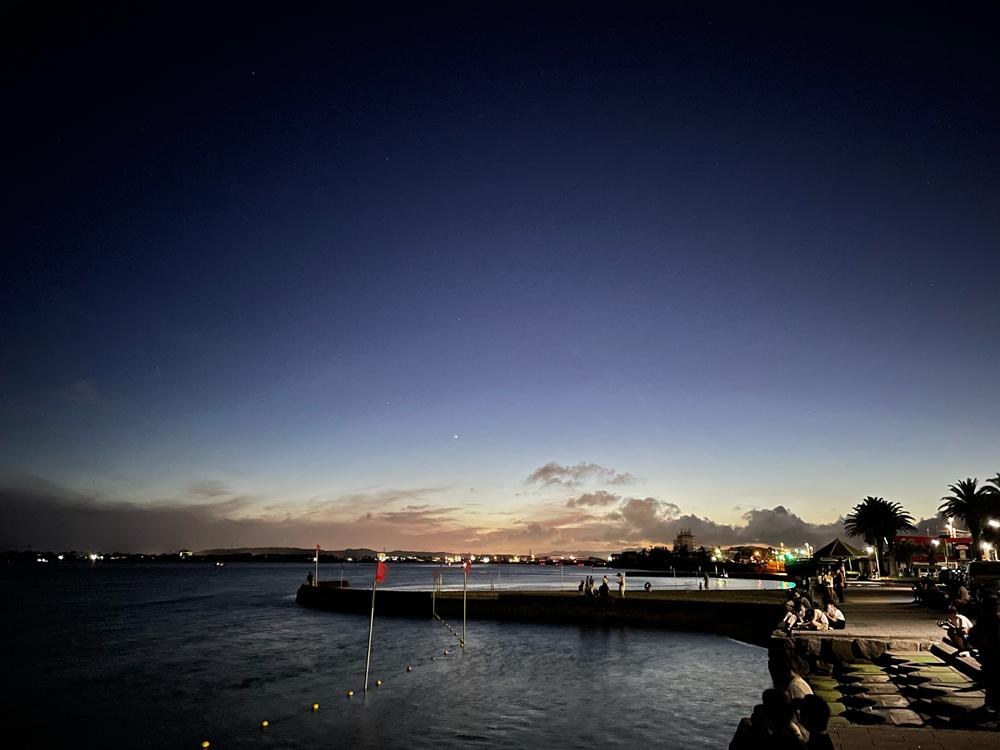 弁天島海水浴場のサンセット